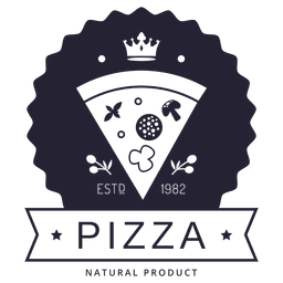 Pizza hipster logotipo