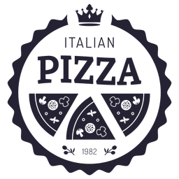 Pizza italiana logotipo