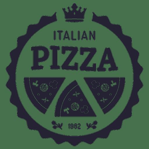 Logotipo de pizza italiana