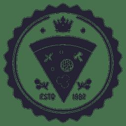 Pizza Logo Abzeichen