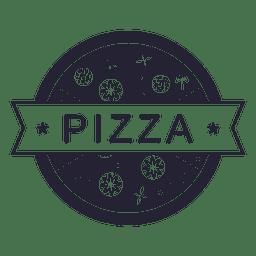 Logotipo del restaurante de comida pizza