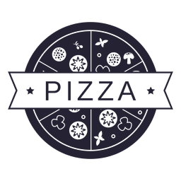 Pizza food restaurant logo