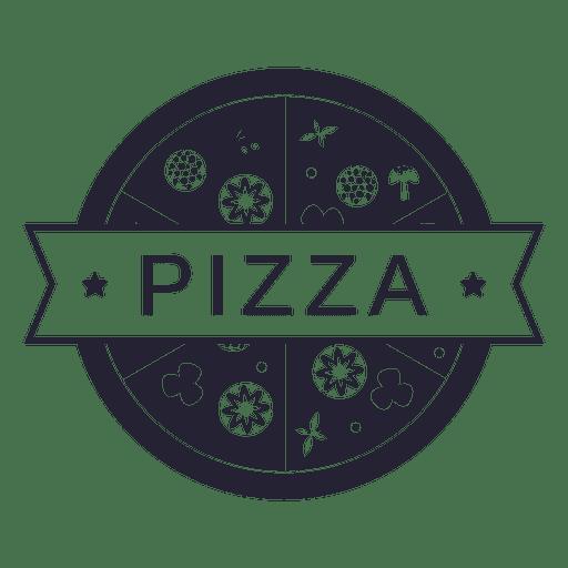 Logotipo de restaurante de comida de pizza Transparent PNG