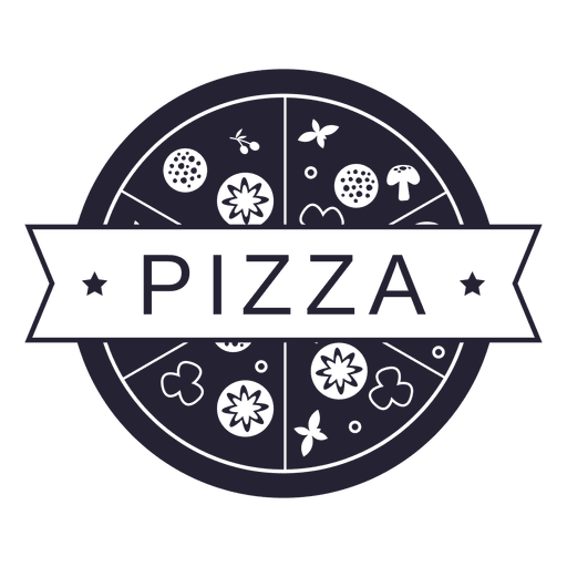 Pizza food restaurant logo Transparent PNG