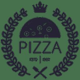 Logotipo de pizza con coronas