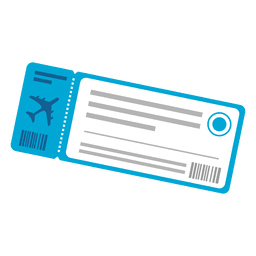 Plane ticket travel icon
