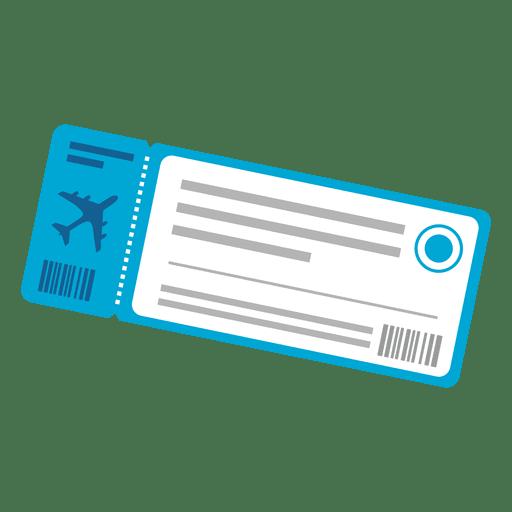 Icono de viaje de billete de avión