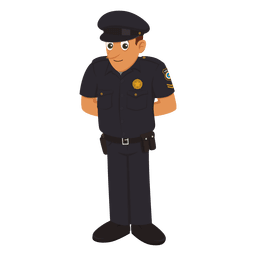Policeman cartoon profession