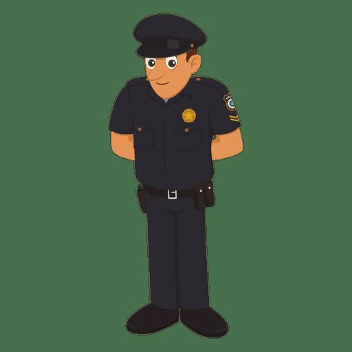 Profesión de dibujos animados de policía