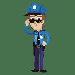 Historieta divertida del policía