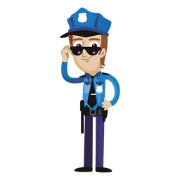 Lustiger Cartoon des Polizisten