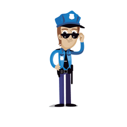 Policeman profession cartoon.svg