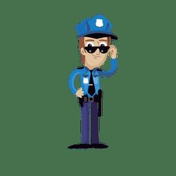 Policía de profesión cartoon.svg