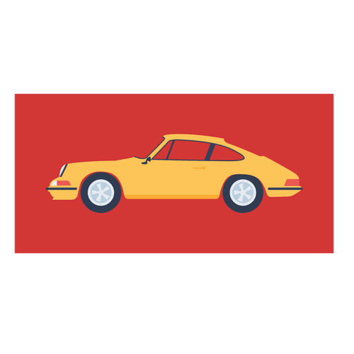 Porsche 911 1927 carro amarelo