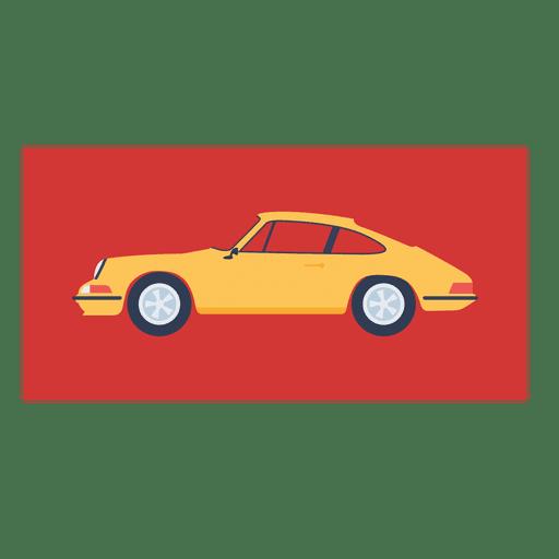 Porsche 911 1927 yellow car Transparent PNG