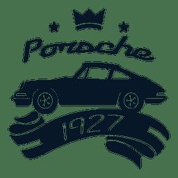 Porsche vintage label