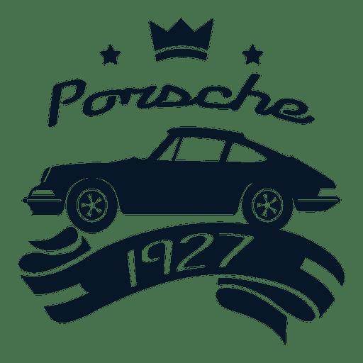 Porsche vintage label Transparent PNG