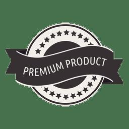 Sello retro de producto premium