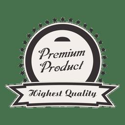 Insignia redonda vintage de producto premium