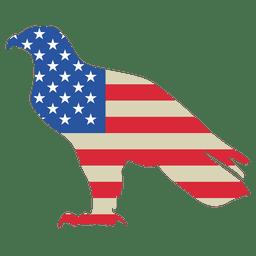 Bandera de los Estados Unidos impresa águila