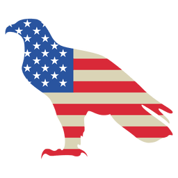 Impresso águia bandeira dos EUA