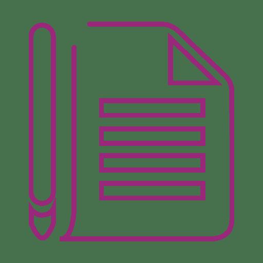 Escova roxa linha de nota icon.svg Transparent PNG