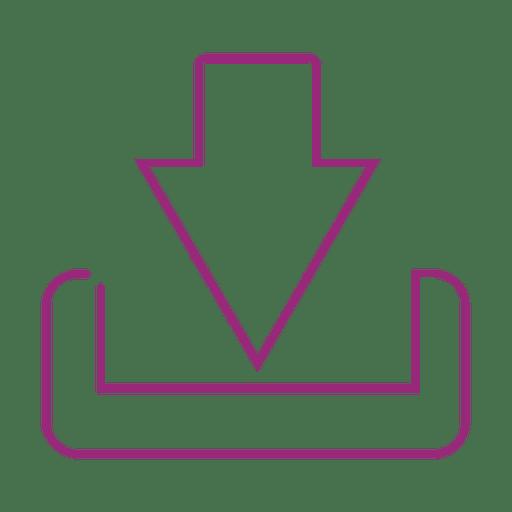 Lila herunterladen icon.svg Transparent PNG
