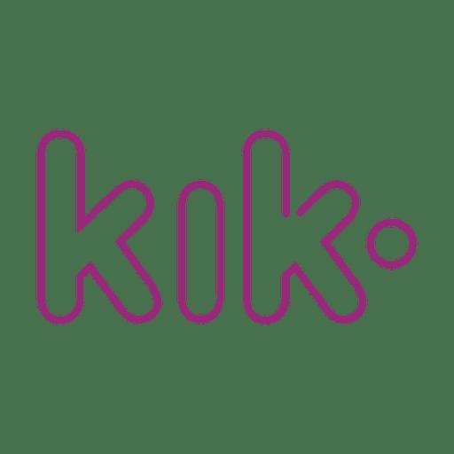 Lila kik line icon.svg Transparent PNG