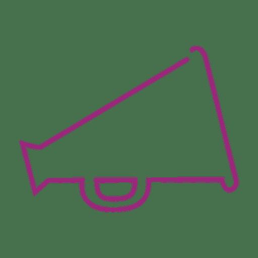 Linha roxa do megafone icon3.svg Transparent PNG