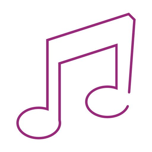 Lila Musiknote icon.svg Transparent PNG