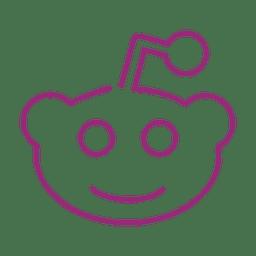 Línea de emoticonos de sonrisa púrpura icon.svg