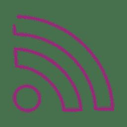 Lila WLAN-Linie icon.svg