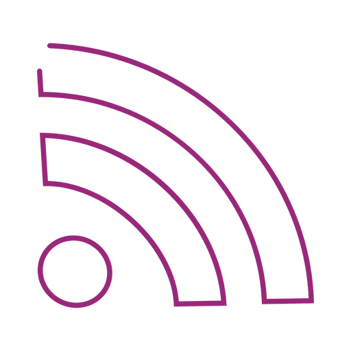 Lila WLAN-Linie icon.svg Transparent PNG