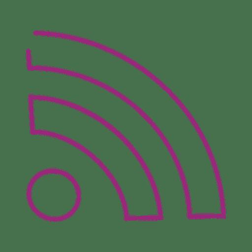 Purple wifi line icon.svg Transparent PNG