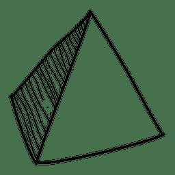 Icono dibujado a mano pirámide