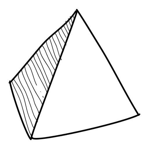 pyramid hand drawn icon