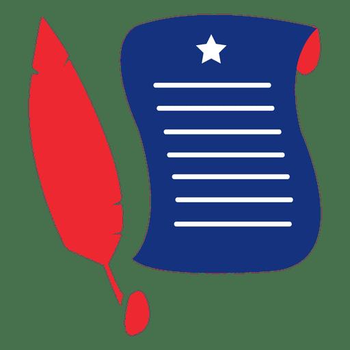 Quill manuscript usa print Transparent PNG