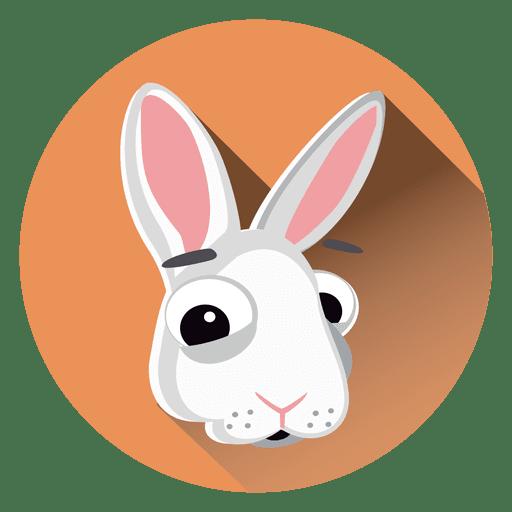 Icono de c?rculo de dibujos animados de conejo