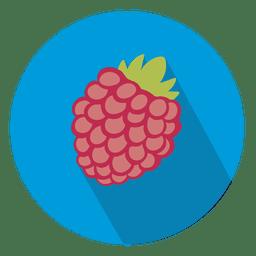 Framboesa ícone de círculo de frutas