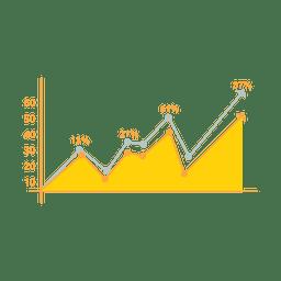 Infográfico de gráfico de imóveis