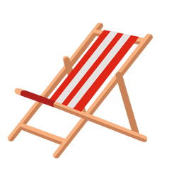 Icono reclinado al aire libre