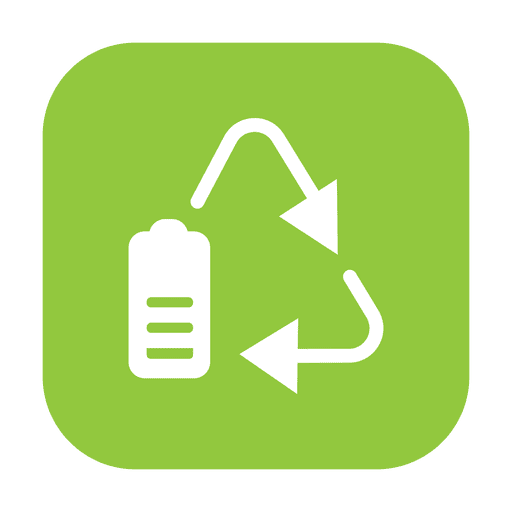 Reciclar bateria 2.svg Transparent PNG