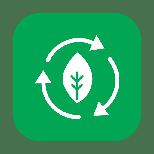 Reciclar folha verde.svg Transparent PNG