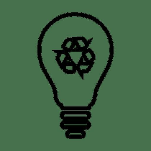Recycle lightbulb.svg Transparent PNG