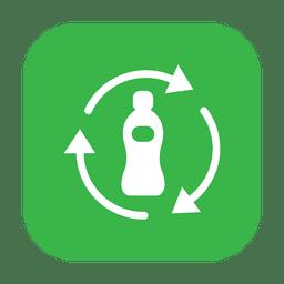Reciclar botella de plástico.svg