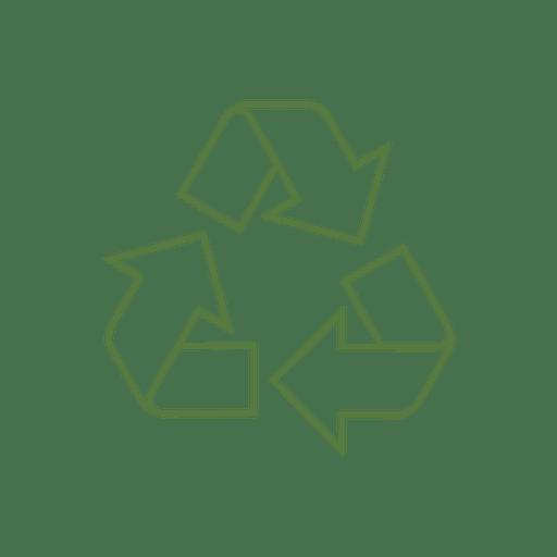 Reciclar línea flecha icon.svg