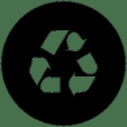 Icono de servicio de reciclaje redondo
