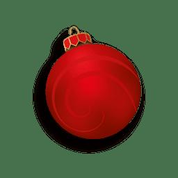 Rote Kugel des Weihnachten 3d