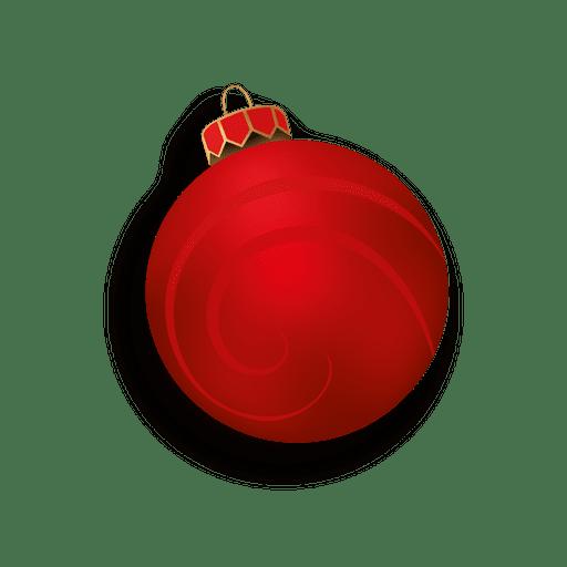 Bola de navidad roja 3d descargar png svg transparente - Bolas navidad transparentes ...