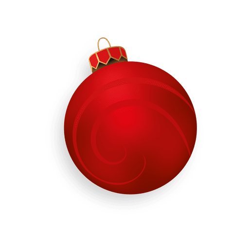 Red 3d christmas ball Transparent PNG